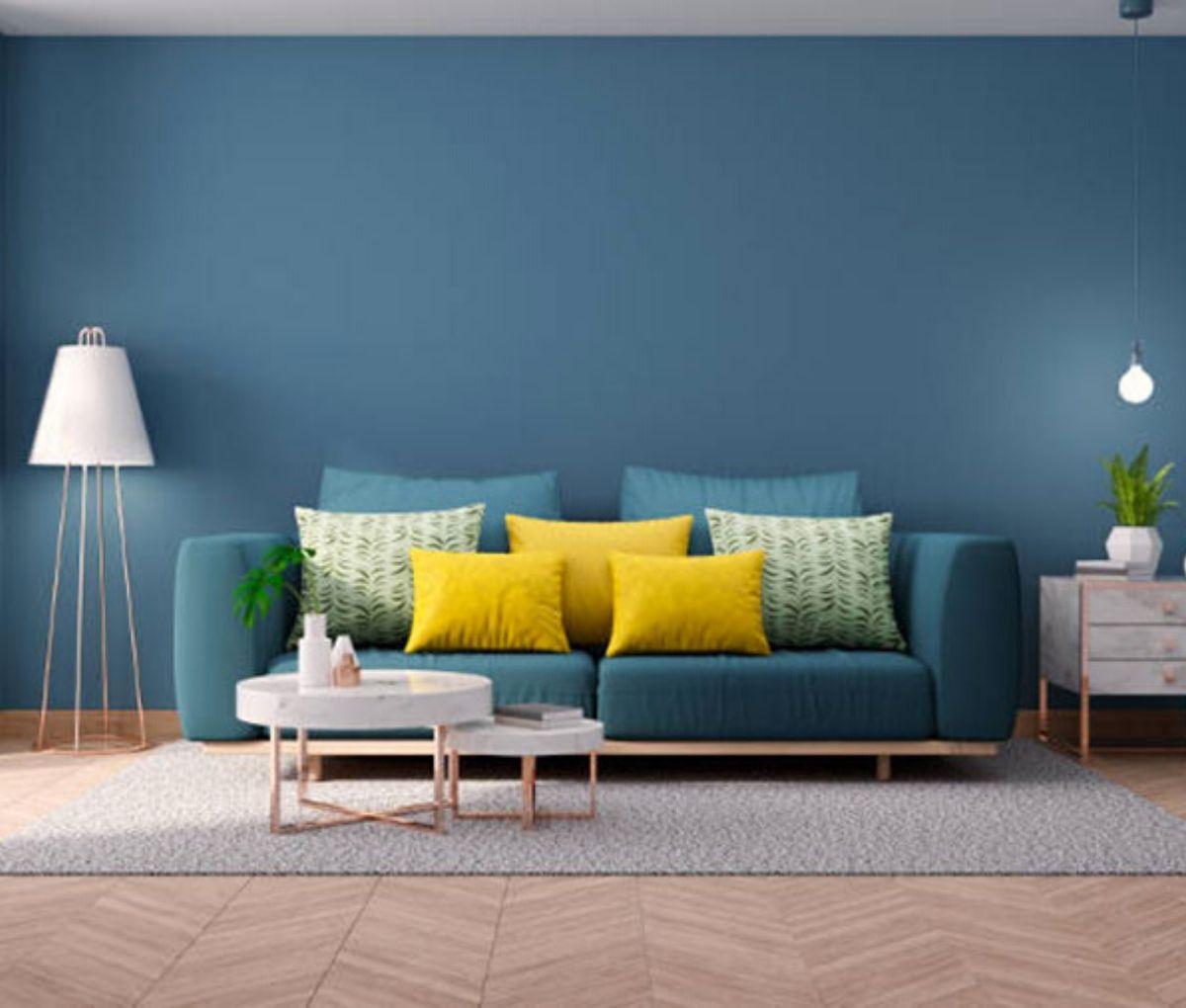 Colorare le pareti di casa, tendenze 2020 | Soggiorno blu ...