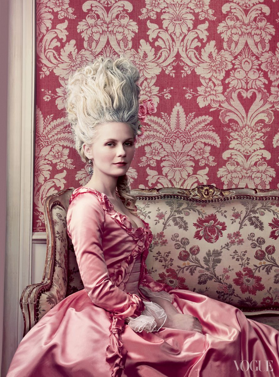 colorful hair in vogue kirsten dunst hair: odile gilbertfashion