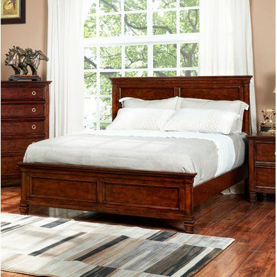 Best Alcott Hill Holahan Panel Bed Size Queen Color Brown 400 x 300
