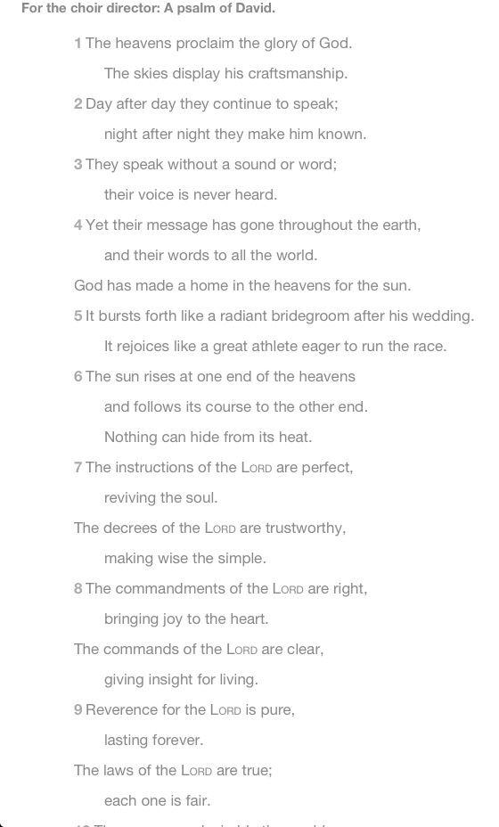Psalm 19!