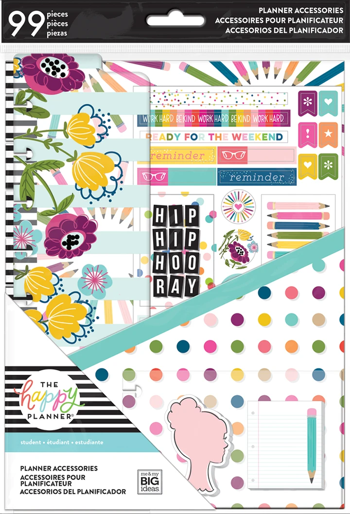 FITNESS Notepad The Happy Planner Sticky Notes Stickers Accessory Bundle Classic Happy Planner