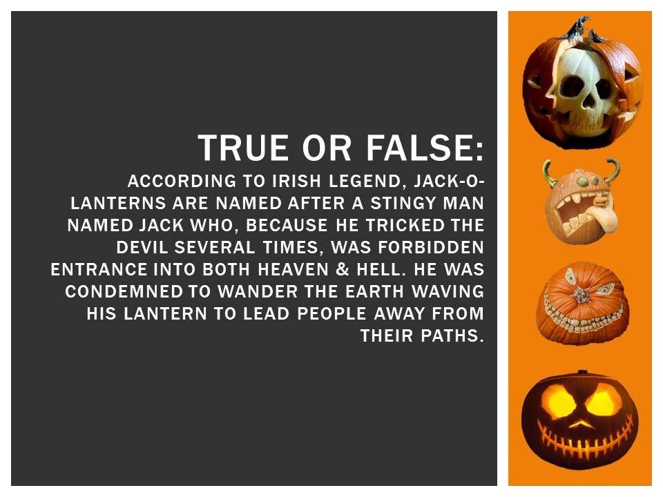 Halloween Trivia: According to Irish Legend, this is true ...