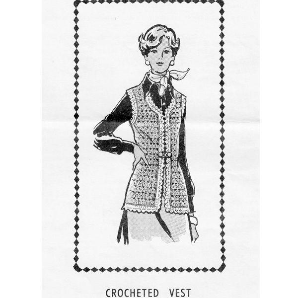 Shell Stitch Crochet Vest Pattern Design 844   Crochet Vest Patterns ...