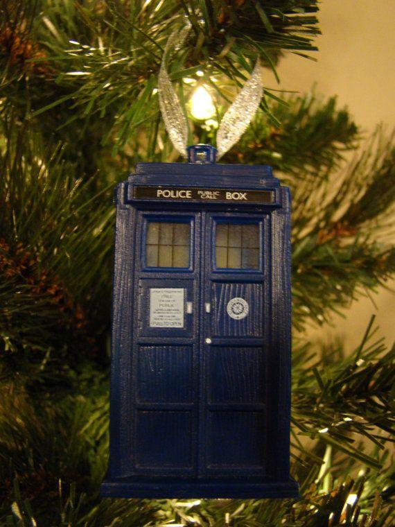 Doctor Who TARDIS Christmas Ornament | Doctor who tardis ...