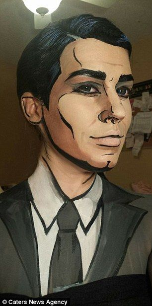 Comic maquillaje maquillaje artístico Pinterest Maquillaje - maquillaje de vampiro hombre
