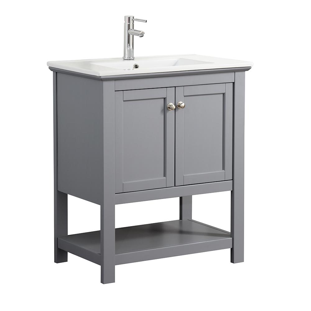 Fresca Bradford 30 In W Traditional Bathroom Vanity In Gray With