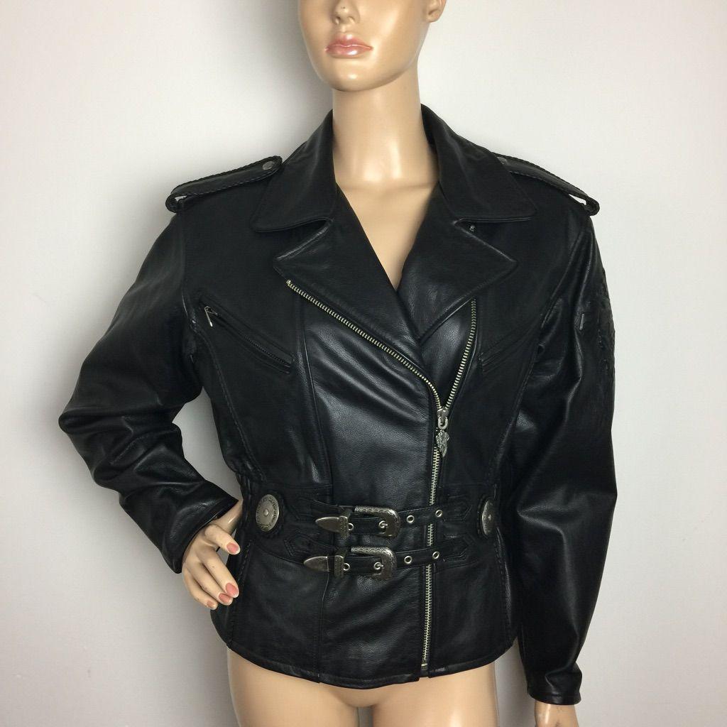 Harley Davidson Leather Motorcycle Riding Jacket