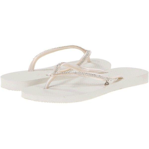 2896229bb Havaianas Slim Crystal Mesh II Flip Flops Women s Sandals ( 150) ❤ liked on  Polyvore