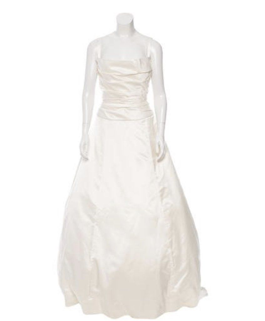 Vera Wang Crumb Catcher Silk Wedding Gown Used Wedding Dresses Wedding Dresses