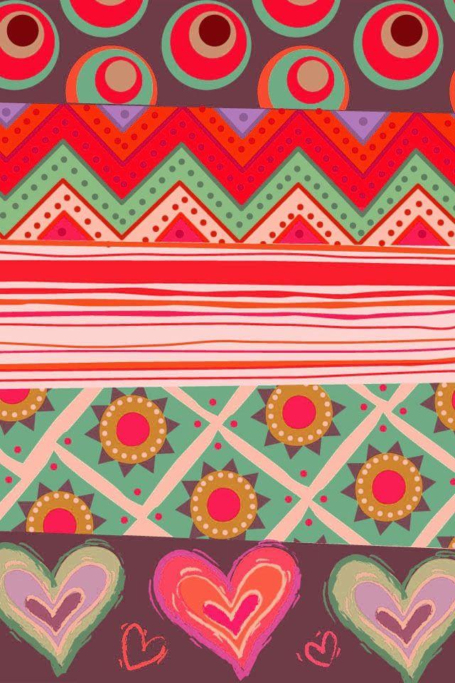 Floral tribal print! | Tribal wallpaper, Iphone wallpaper ...