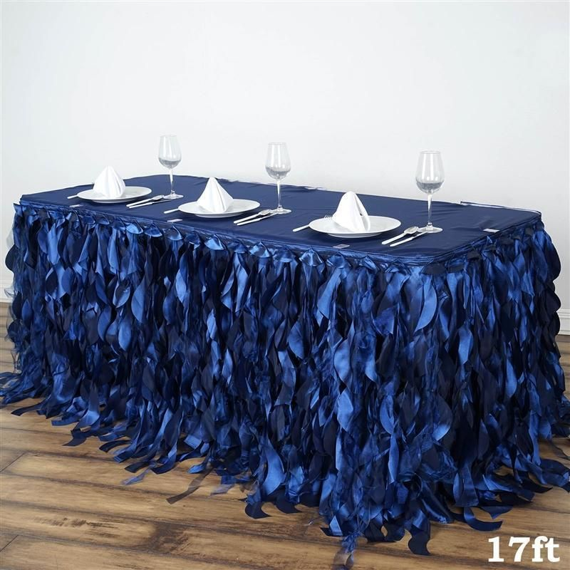 Choose Your Color! 17 Feet ~NEW~ Rosette Table Skirt For Wedding Party Decor