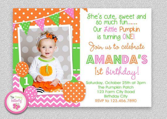 pumpkin birthday invitation printable party invitation birthdays