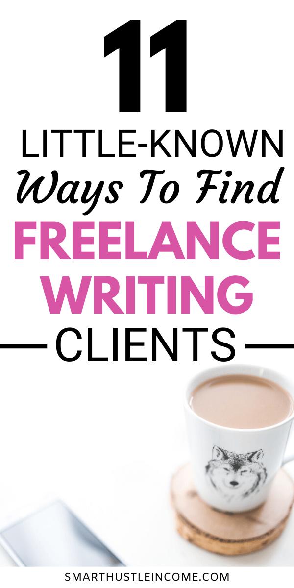 11 Unusual Ways To Find Freelance Writing Jobs Today Freelance Writing Writing Jobs Freelance Writing Jobs