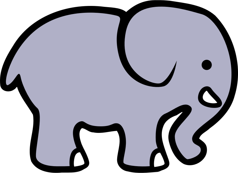 Simple Line Art Designs : 2d cartoon elephant by lemmling a simple