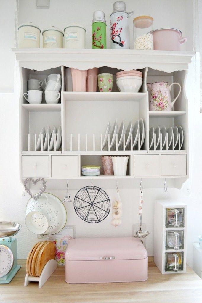Greengate Pastel Kitchen Display Shelves Plate Rack 682x1024