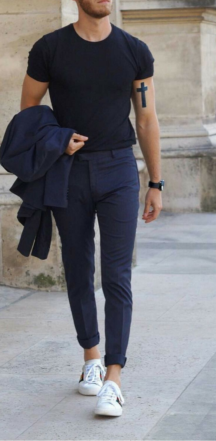 Nice style | Mens outfits, White sneakers outfit, Mens ...