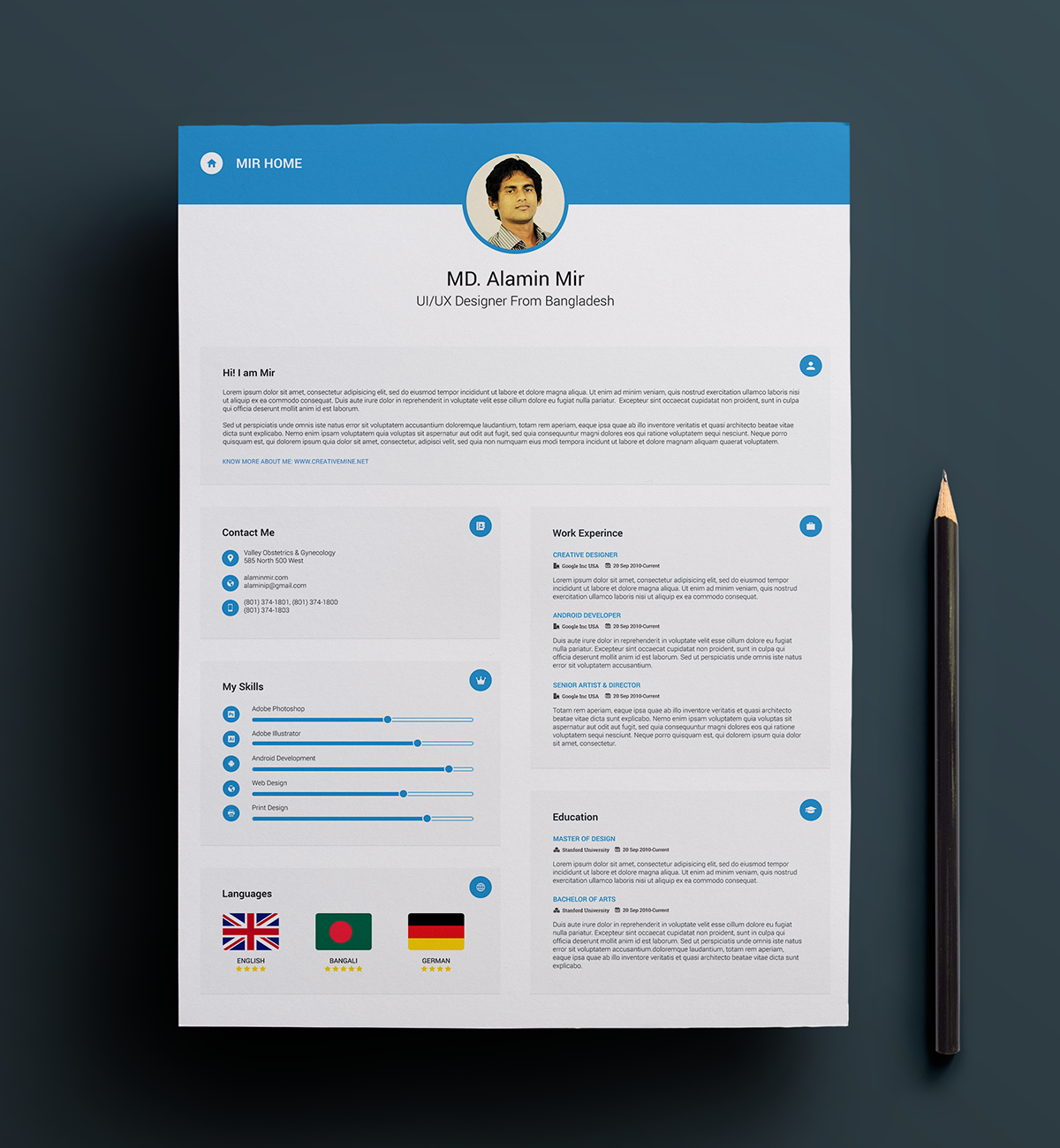 Resume   Design    Free Resume Business Cards And
