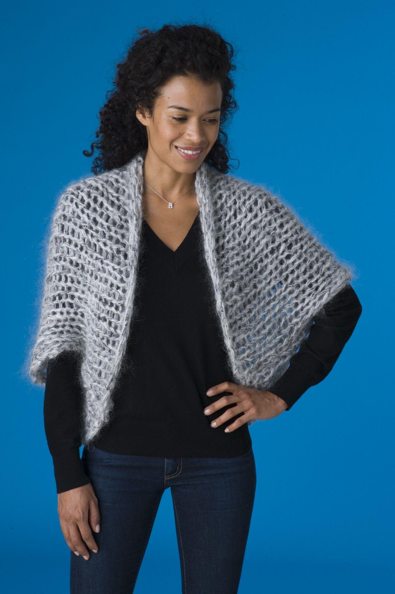 Cocoon Shrug (Knit) - Patterns - Lion Brand Yarn | Breiwerk ...