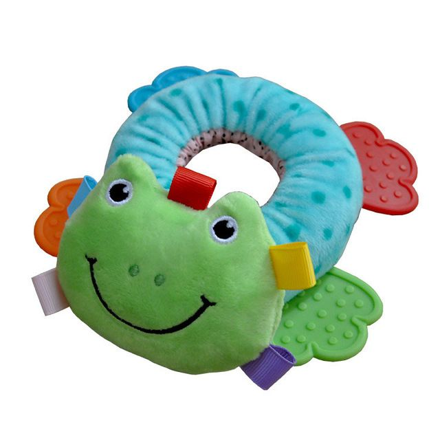 Frog small ring hand rattle plush toys $4.38