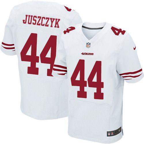 930818d5dc2 Men s Nike San Francisco 49ers  44 Kyle Juszczyk Elite White NFL Jersey