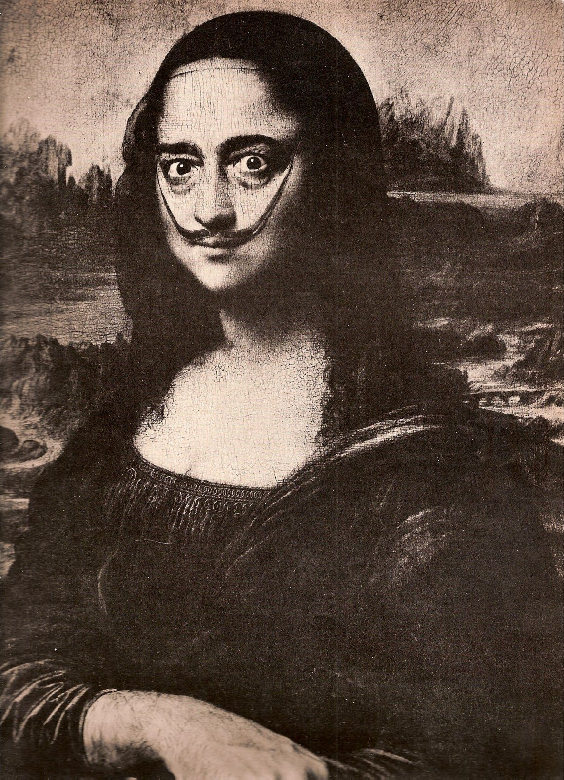 Mona Lisa As Salvador Dali Mona Lisa Parody Mona Lisa Art Parody