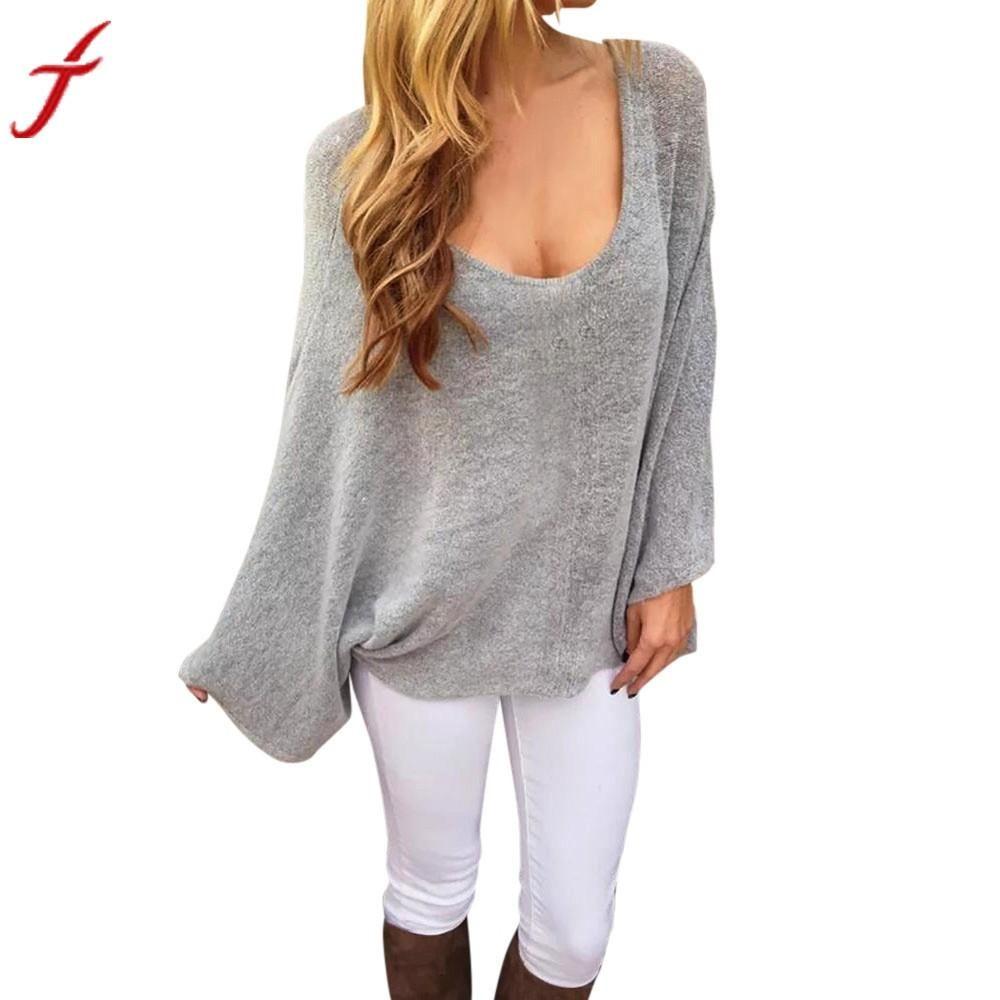 c2224cb2421 Women Blouses Fashion New Summer Round Neck Bat Sleeves Long Sleeve Blusas  Gray Shirt Casual Women