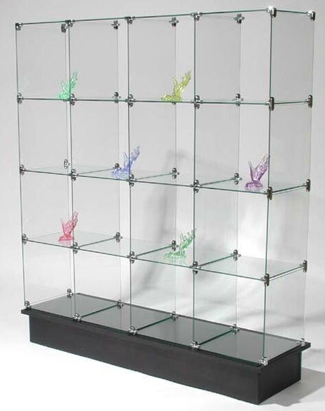 Glass Cube Display Unit Glass Display Stand Store Display Glass System Glass Shelves Glass Cube Glass Display Unit