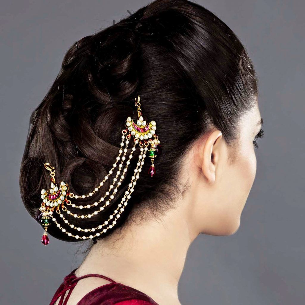 Indian Juda Hairstyles For Women | Hair jewelry, Indian hair accessories, Indian wedding hairstyles