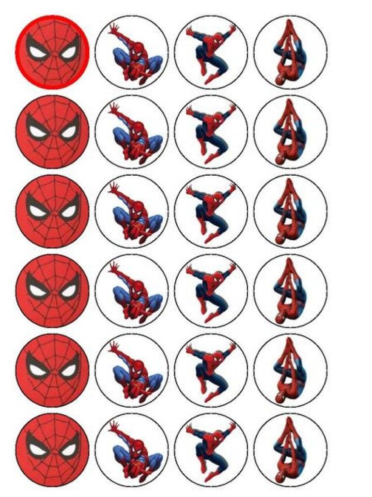 Free Printable Cupcake Wrappers And Toppers With Spiderman ...