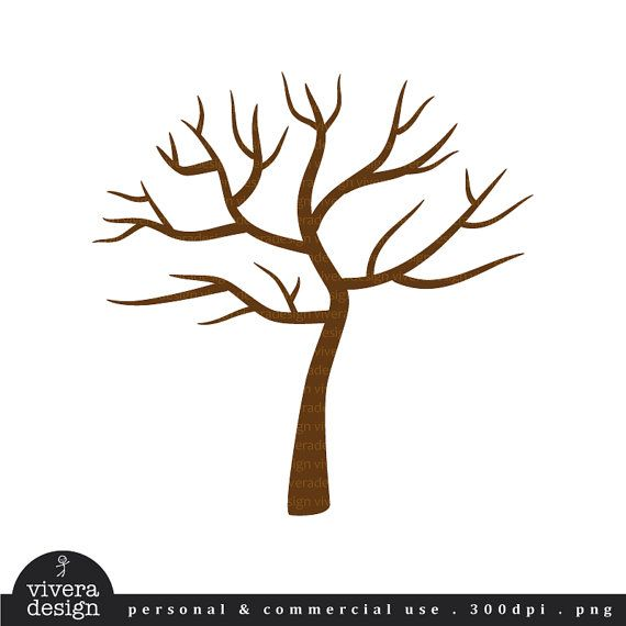 digital clip art tree with no leaves winter tree perfect for rh pinterest com winter tree clip art black and white winter tree clipart black and white