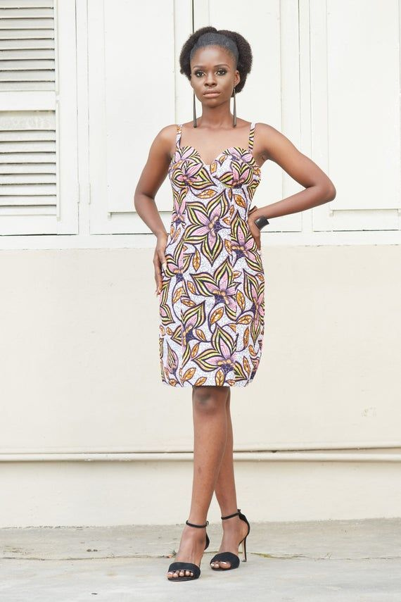Ankara Print Dress, African Print Dress, Floral Print Dress, African Dress, African Print Clothing f #africanprintdresses