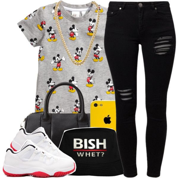 A fashion look from June 2014 featuring H\M t-shirts, Gestuz jeans