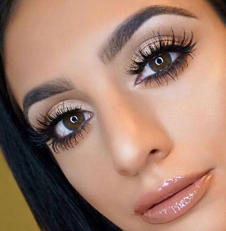 Shimmery Gold Cat Eye Makeup Gorgeous Pinterest Make Up