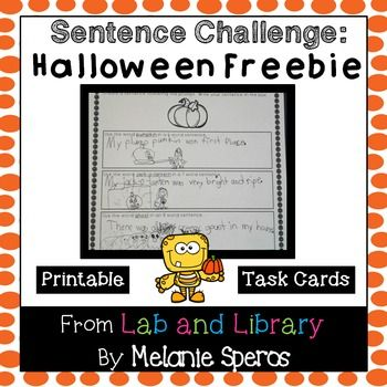 This FREE Halloween/fall-themed activity includes 12 task cards, 1