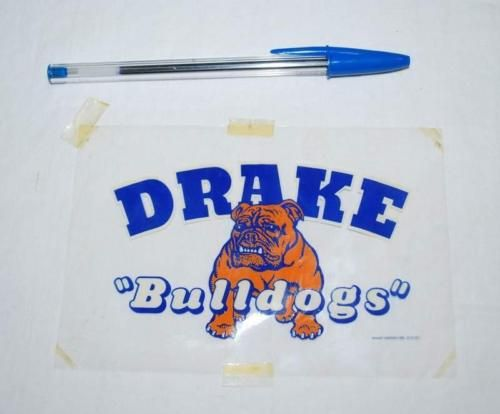 Vintage Drake Bulldogs Football Decal Iron On Transfer 1950s Unused With Images Football Decal Drake Bulldogs College Decals