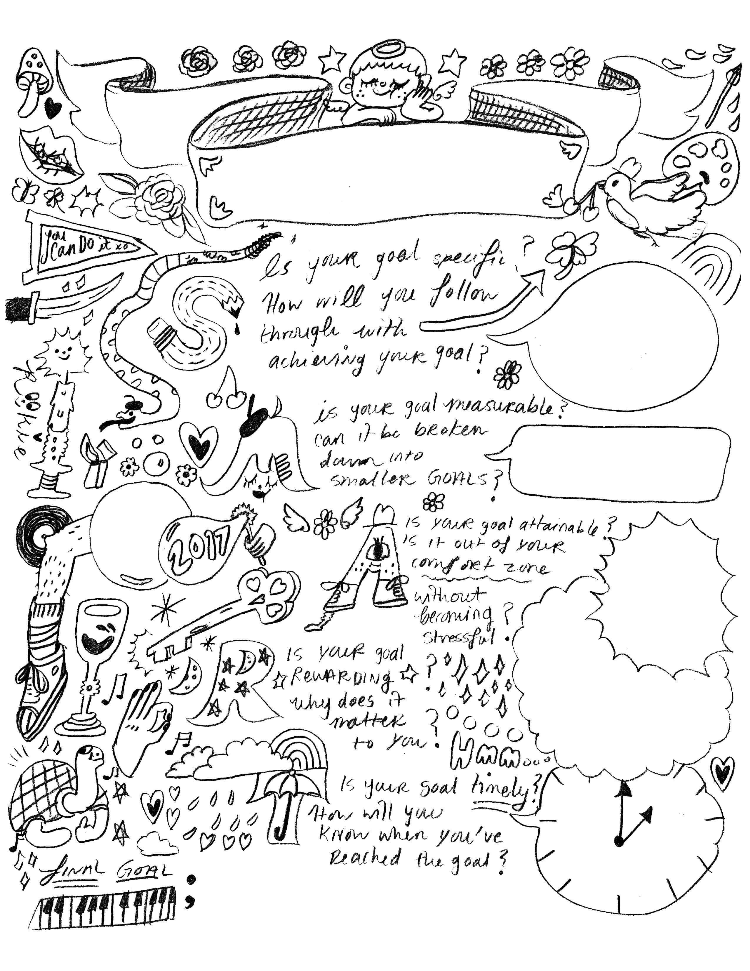 This Coloring Page Will Help You Set Goals
