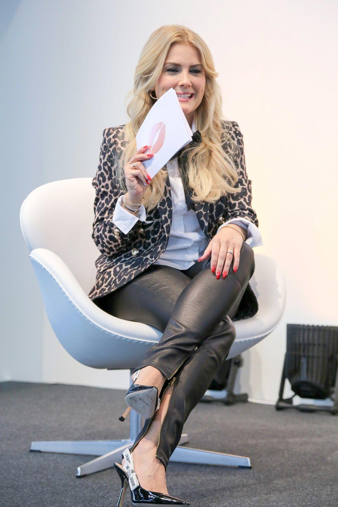 Jennifer Knable Leder Leggings Schone Frauen Und Mode Fur Frauen