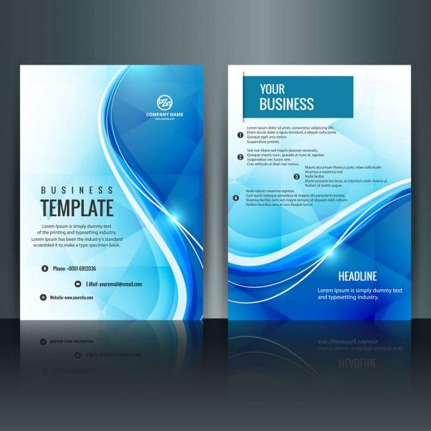 Book Cover Design Free Templates ~ Modern brochure template free vector trifold