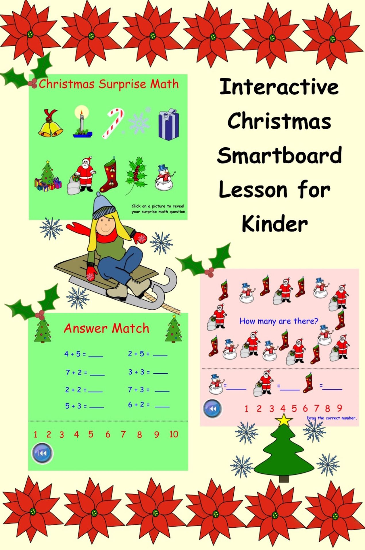 Smartboard Christmas Surprise Math