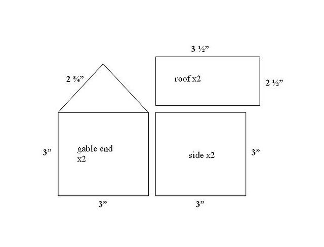 gingerbread house template measurements  gingerbread house - measurements by jayme michelle, via ...