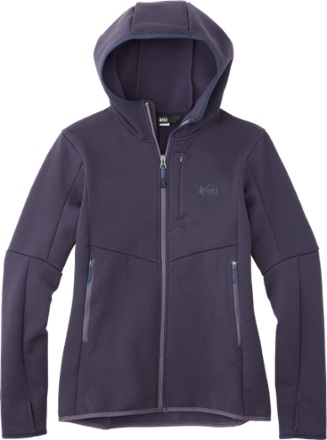 5143087d1 Combining a durable, abrasion-resistant face with flexible stretch, the women's  REI Co-op Wind Pro fleece hoodie II blocks cold wind without holding you ...