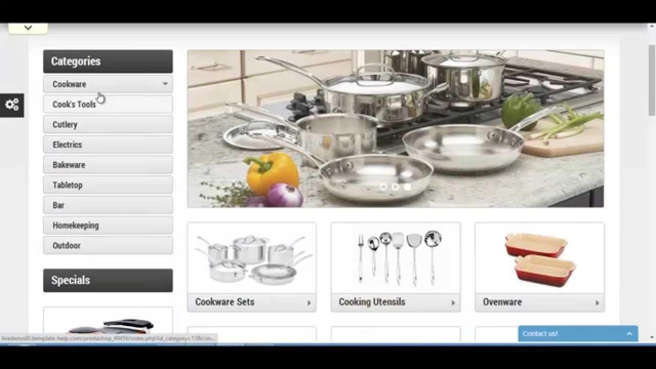 kitchen supplies store prestashop theme | prestashop theme