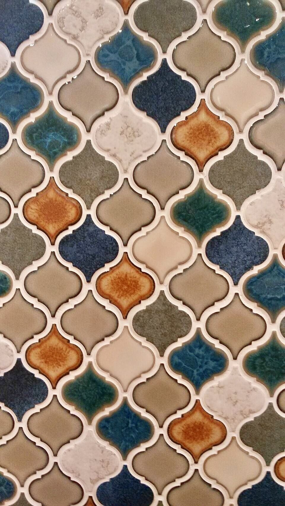 Moroccan Tile design pattern wallpaper for phone (With