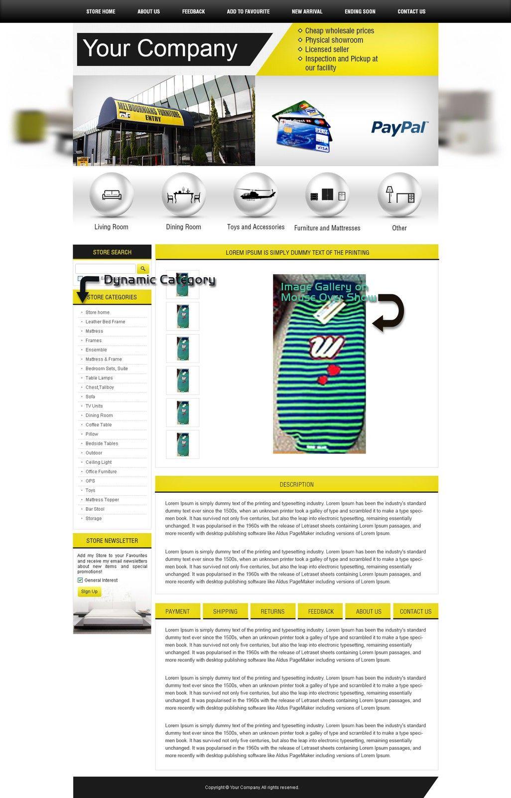 PROFESSIONAL EBAY SHOP STORE DESIGN, EBAYLISTING HTML