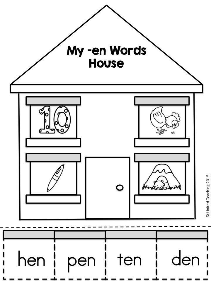 En Cvc Word Family Word Work United Teaching Resources