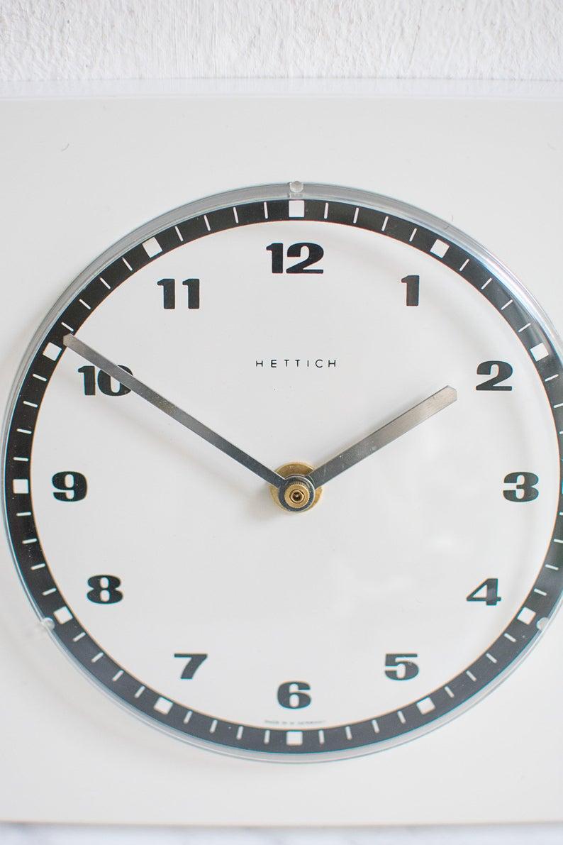 Hettich White Kitchen Wall Clock Wall Clock Modern Wall Clock