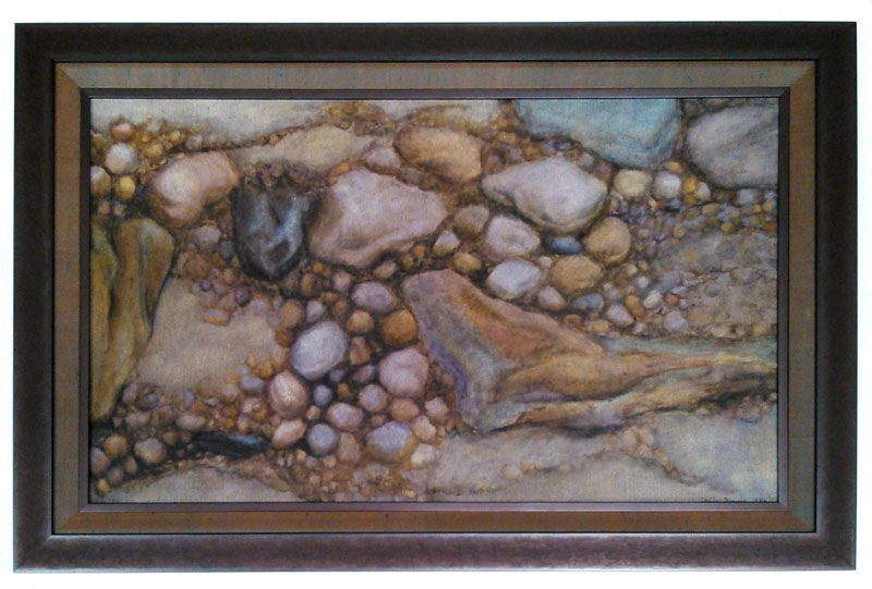 Featuring @Larson-Juhl 's Foundry collection. Painting on Canvas with fillet, liner and frame