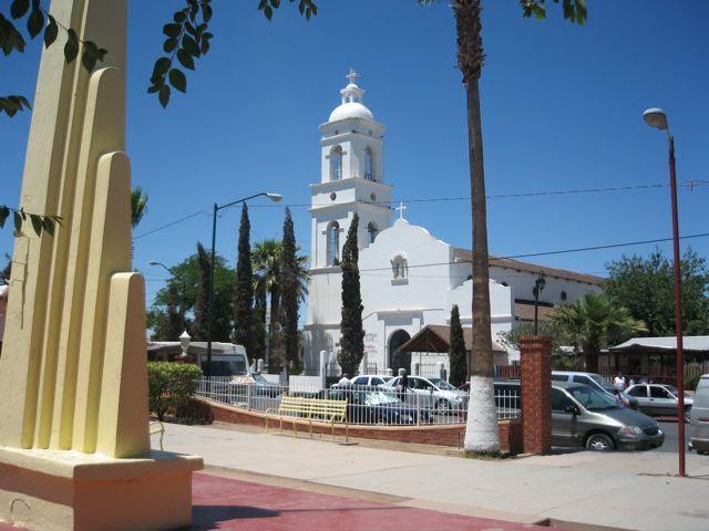 The Zocalo In Agua Prieta Mexico The Boarder Town With Douglas