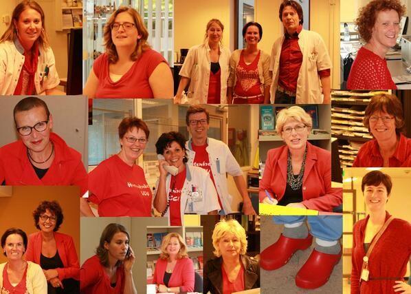 RodeKruisZH @RodeKruisZH -  'Dress Red' in het #RKZ! Aandacht voor #hartenvaatziekten bij vrouwen, doodsoorzaak nr1 #DressRedDay @Hartstichting pic.twitter.com/XIHUqGFGP1 #DressRedDay2013