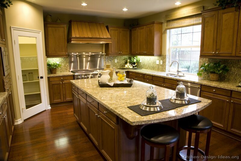 Pictures Of Kitchens Traditional Medium Wood Cabinets Brown Brown Kitchen Cabinets Custom Kitchens Design Kitchen Design